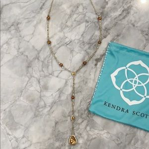 Kendra Lucielle Y Lariat Necklace - gold